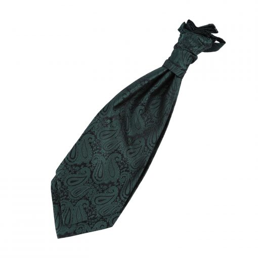 Emerald Green Paisley Pre-Tied Wedding Cravat