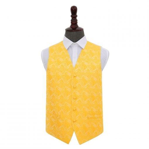 Gold Paisley Wedding Waistcoat