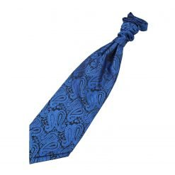 Royal Blue Paisley Pre-Tied Wedding Cravat