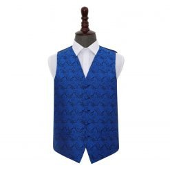 Royal Blue Paisley Wedding Waistcoat