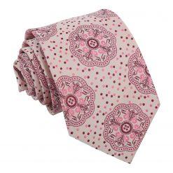 Pink Harmony Peony Paisley Modern Classic Tie