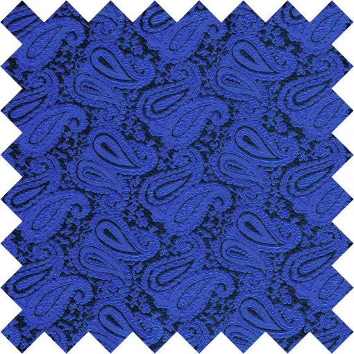 Royal Blue Paisley Swatch
