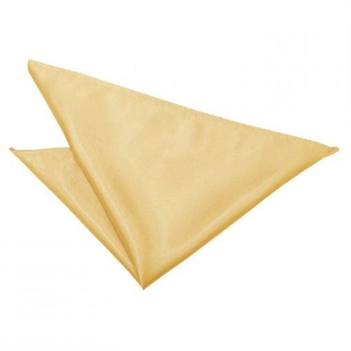 Pale Yellow Plain Satin Handkerchief / Pocket Square