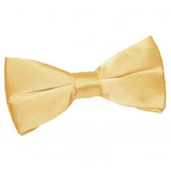 Pale Yellow Plain Satin Pre-Tied Bow Tie