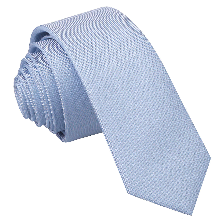 JA Panama Silk Light Blue Skinny Tie
