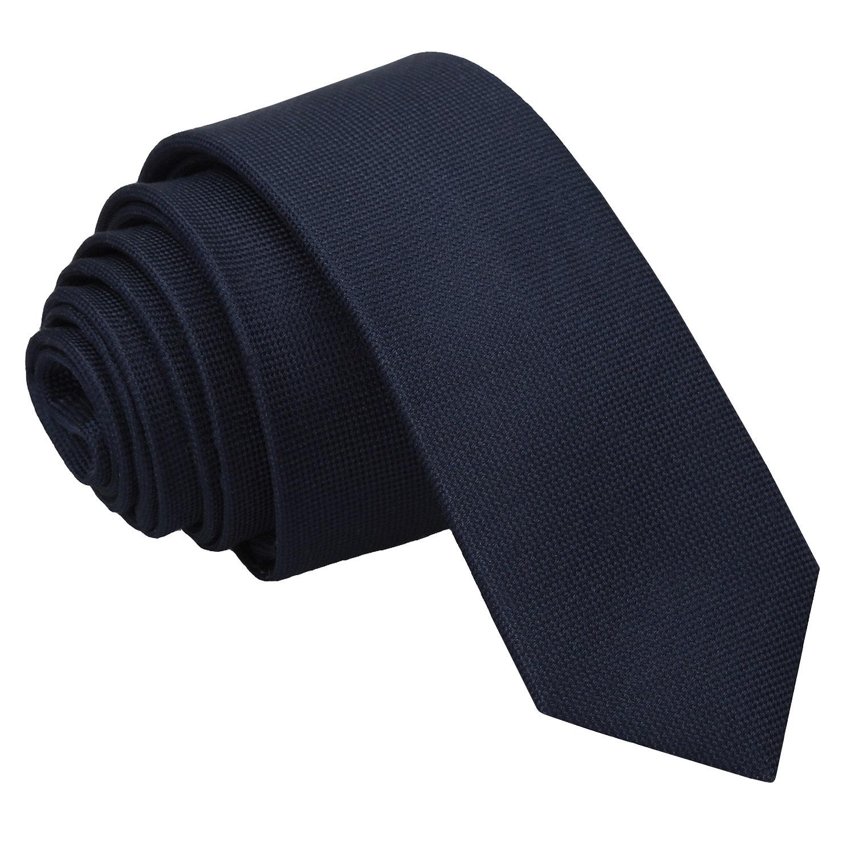 JA Panama Silk Navy Blue Skinny Tie