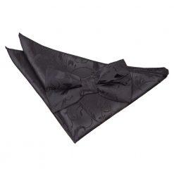 Black Floral Bow Tie & Pocket Square Set