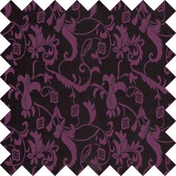 Black & Purple Floral Swatch