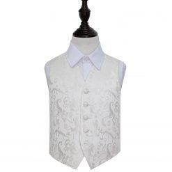 Ivory Floral Wedding Waistcoat for Boys