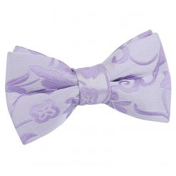 Lilac Floral Pre-Tied Bow Tie for Boys