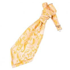 Gold Floral Pre-Tied Wedding Cravat for Boys