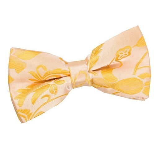 Gold Floral Pre-Tied Bow Tie