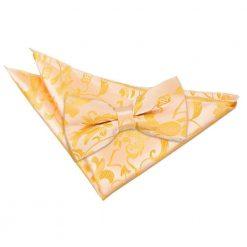 Burgundy Floral Bow Tie & Pocket Square Set