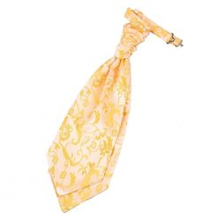 Gold Floral Pre-Tied Wedding Cravat
