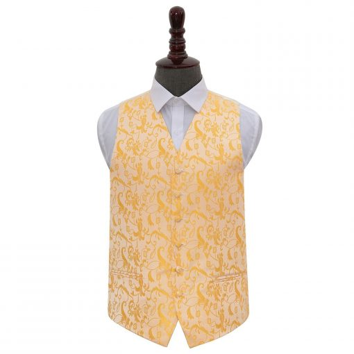 Gold Floral Wedding Waistcoat