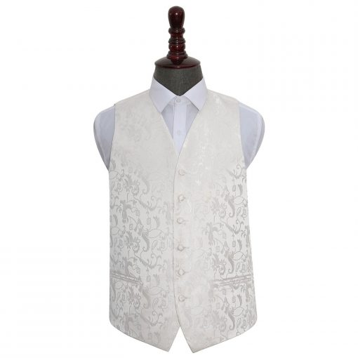 Ivory Floral Wedding Waistcoat