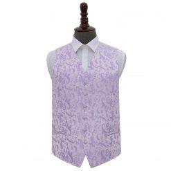 Lilac Floral Wedding Waistcoat