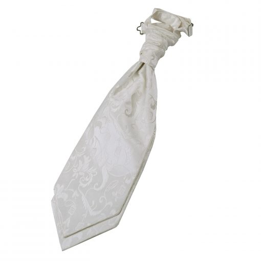 Ivory Floral Pre-Tied Wedding Cravat