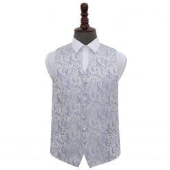 Silver Floral Wedding Waistcoat