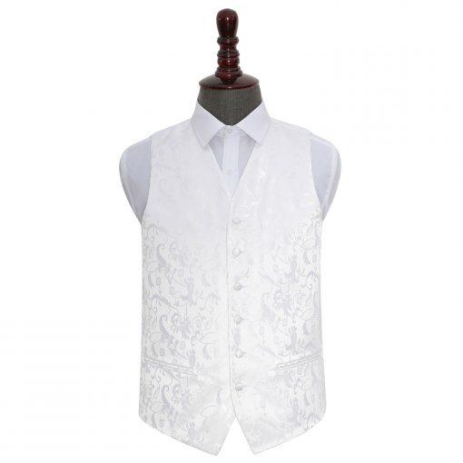 White Floral Wedding Waistcoat