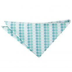 Aqua Blue Pastel Polka Dot Pocket Square