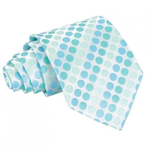 Aqua Blue Pastel Polka Dot Classic Tie