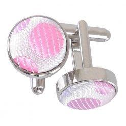 Aurora Pink Pastel Polka Dot Cufflinks