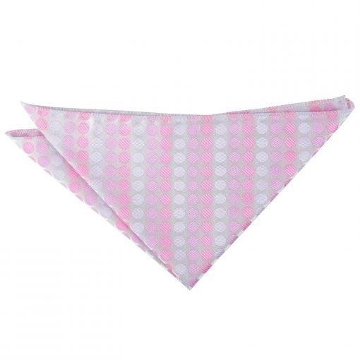 Aurora Pink Pastel Polka Dot Handkerchief / Pocket Square