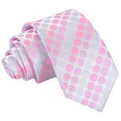 Aurora Pink Pastel Polka Dot Slim Tie