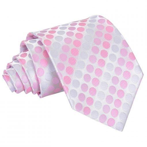 Aurora Pink Pastel Polka Dot Classic Tie