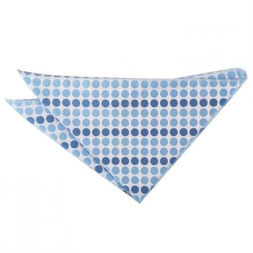 Azure Blue Pastel Polka Dot Handkerchief / Pocket Square