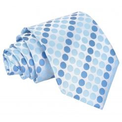 Azure Blue Pastel Polka Dot Classic Tie