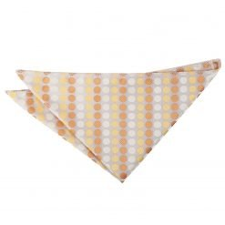 Golden Yellow Pastel Polka Dot Pocket Square