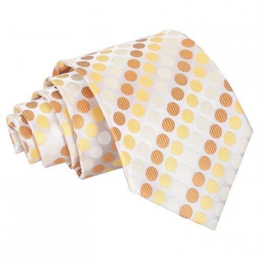 Golden Yellow Pastel Polka Dot Classic Tie