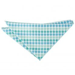 Turquoise Pastel Polka Dot Handkerchief / Pocket Square