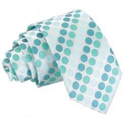 Turquoise Pastel Polka Dot Slim Tie