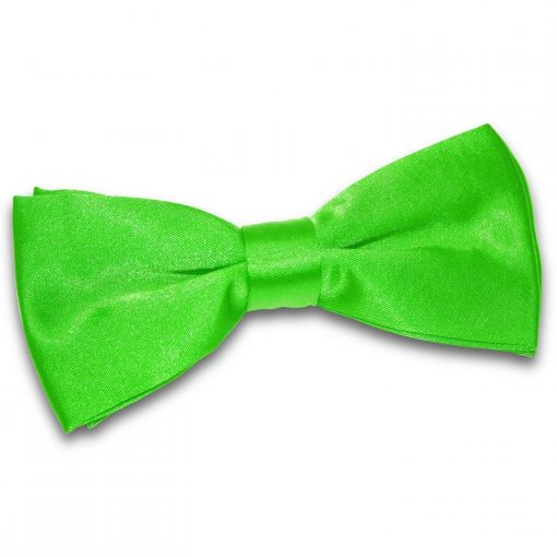 Apple Green Plain Satin Pre-Tied Bow Tie