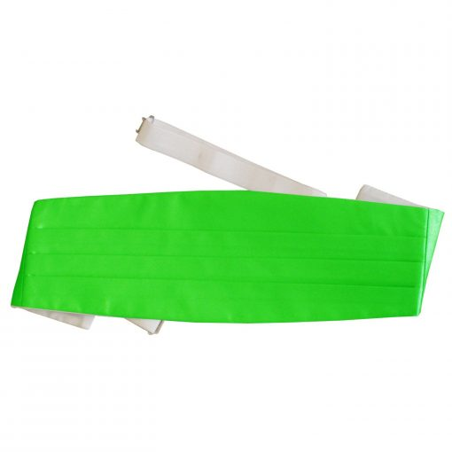 Apple Green Plain Satin Cummerbund