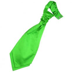 Apple Green Plain Satin Pre-Tied Wedding Cravat for Boys