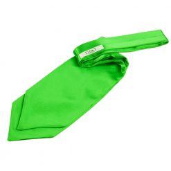 Apple Green Plain Satin Self-Tie Wedding Cravat