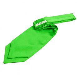 Apple Green Plain Satin Self-Tie Wedding Cravat