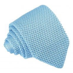 Baby Blue Knitted Slim Tie