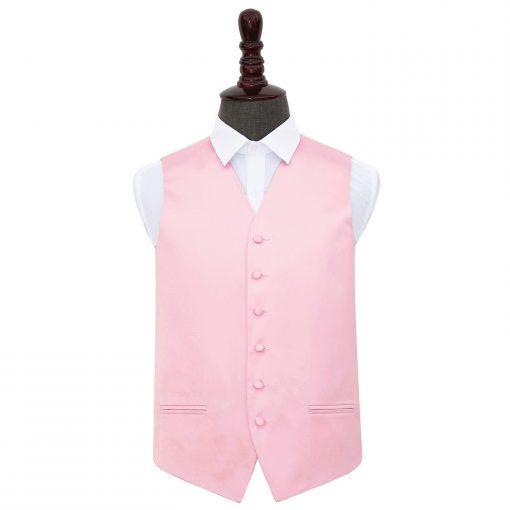 Baby Pink Plain Satin Wedding Waistcoat
