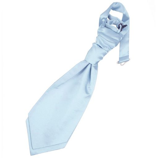 Baby Blue Plain Satin Pre-Tied Wedding Cravat for Boys