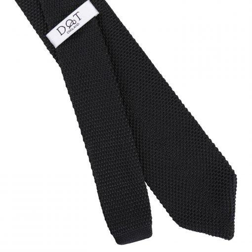 Black Knitted Slim Tie