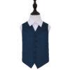 Navy Blue Plain Satin Wedding Waistcoat for Boys