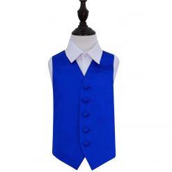 Royal Blue Plain Satin Wedding Waistcoat for Boys