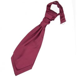 Burgundy Plain Satin Pre-Tied Wedding Cravat for Boys