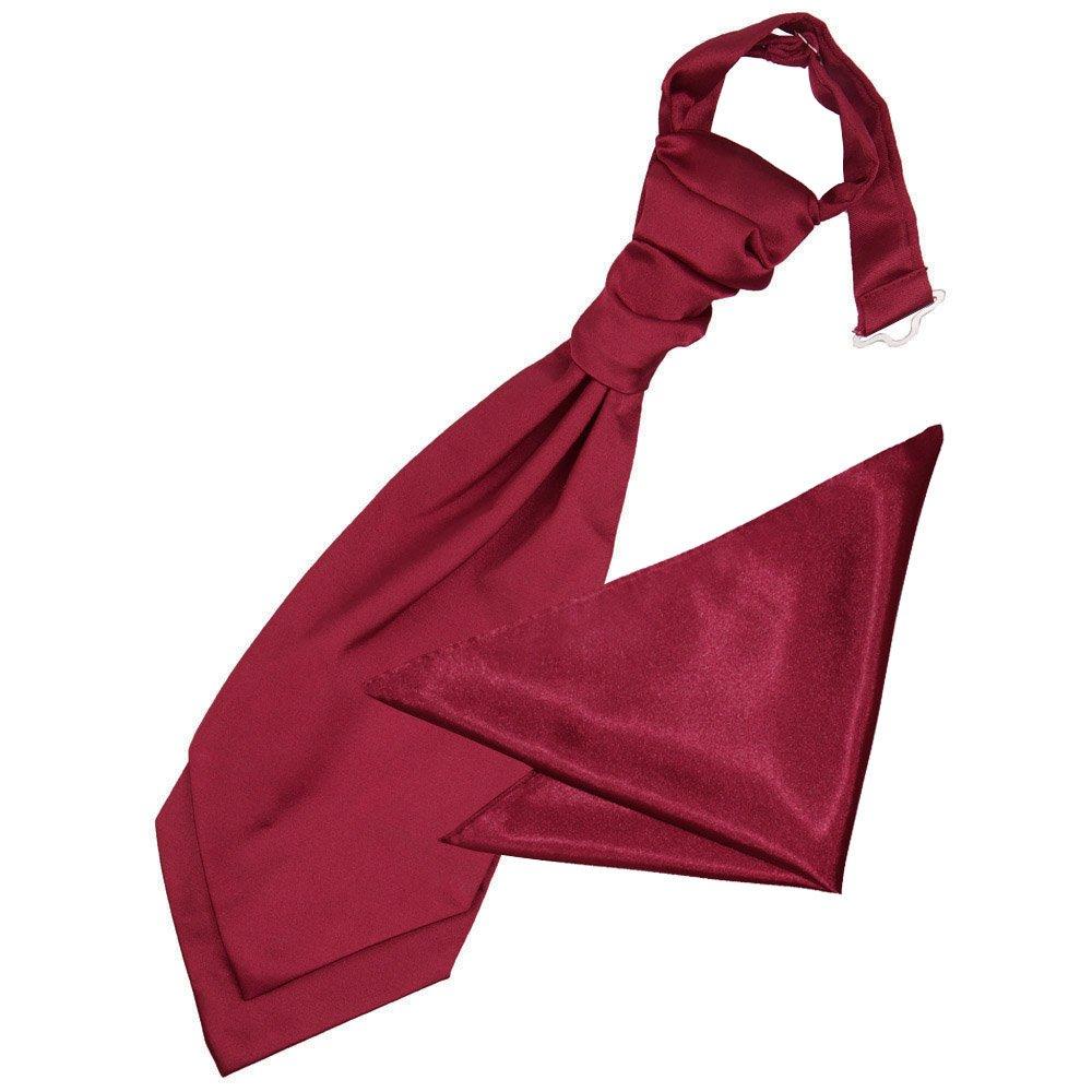 DQT Satin Plain Solid Red Boys Wedding Waistcoat /& Cravat Set