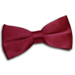 Burgundy Plain Satin Pre-Tied Bow Tie